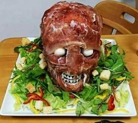 ハロウィンレシピ 頭蓋骨サラダ