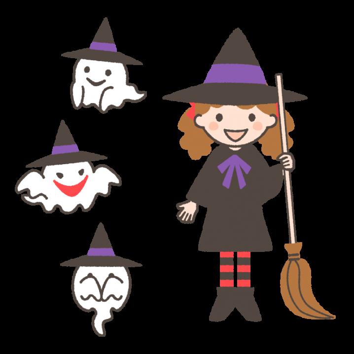 かわいい 魔女 ハロウィン