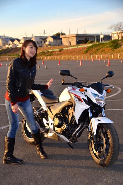 大島由香里、バイク女子